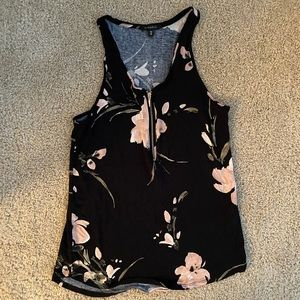 Dynamite floral zippered racerback tank top